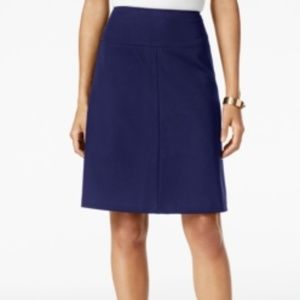 Tommy Hilfiger A-Line Skirt Size 12 Navy Zip Lined